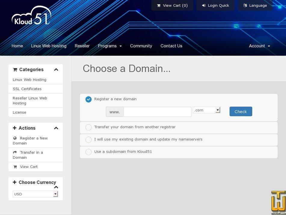 Screenshot of Premium from kloud51.com