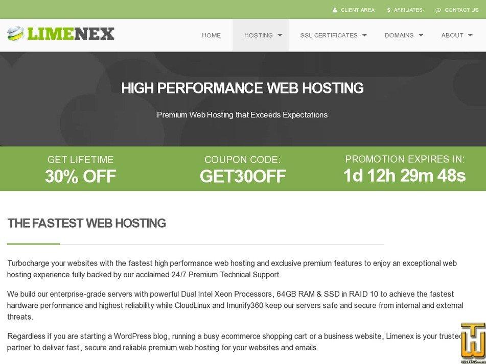 Screenshot of V3 from limenex.com