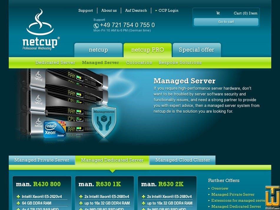 Screenshot of man. R430 800 from netcup.de