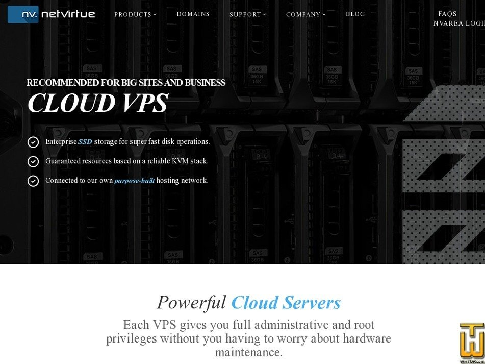 Screenshot of Starter Entry Level Server from netvirtue.com.au