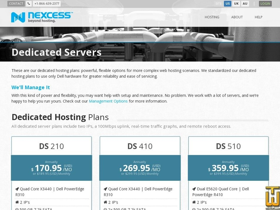Screenshot of DS 210 from nexcess.net