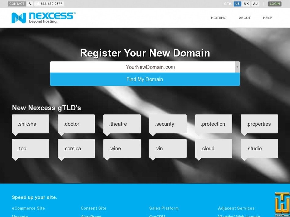 Screenshot of .com from nexcess.net