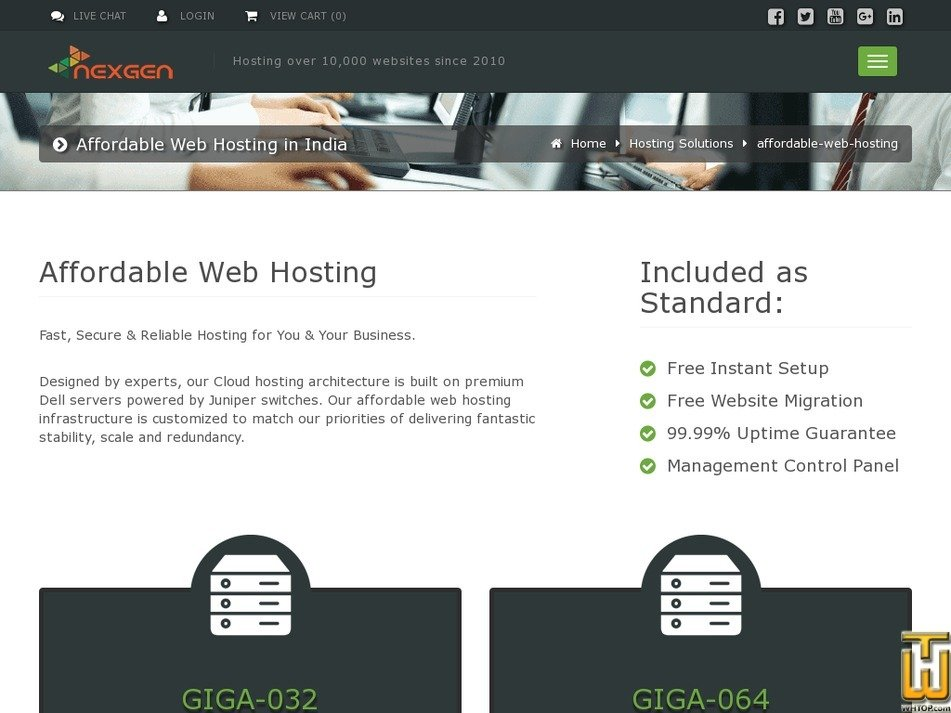 Screenshot of Business from nexgenhosting.in