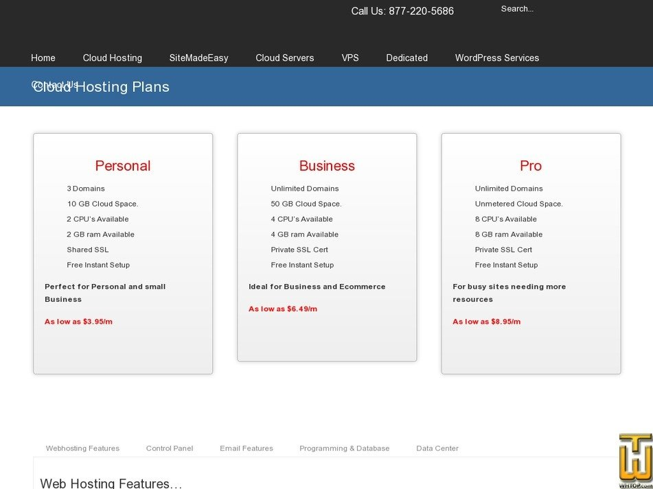 Screenshot of Business from olm.net