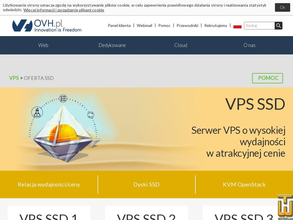 Screenshot of VPS SSD 2 from ovh.pl