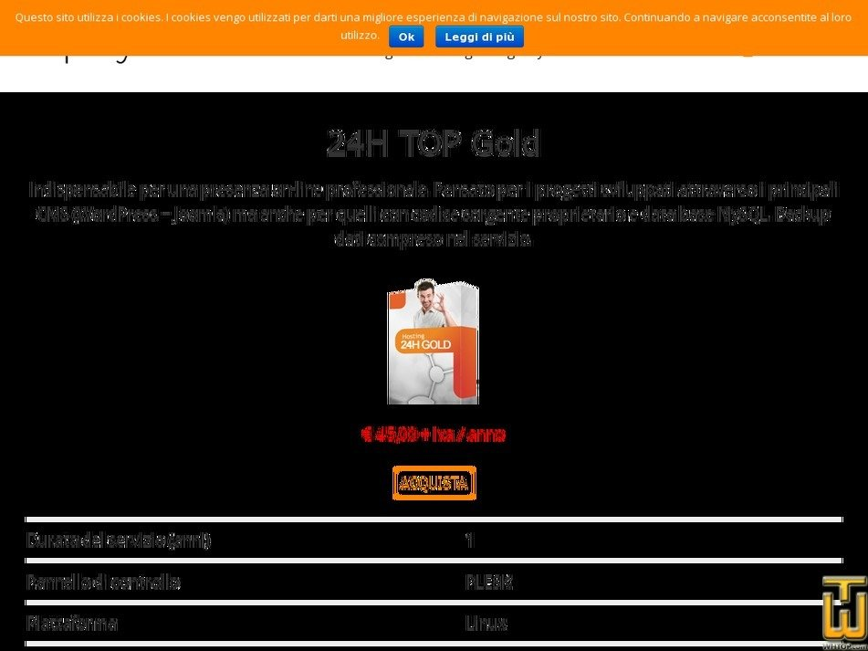 Screenshot of 24H TOP Gold Windows from playnet.it