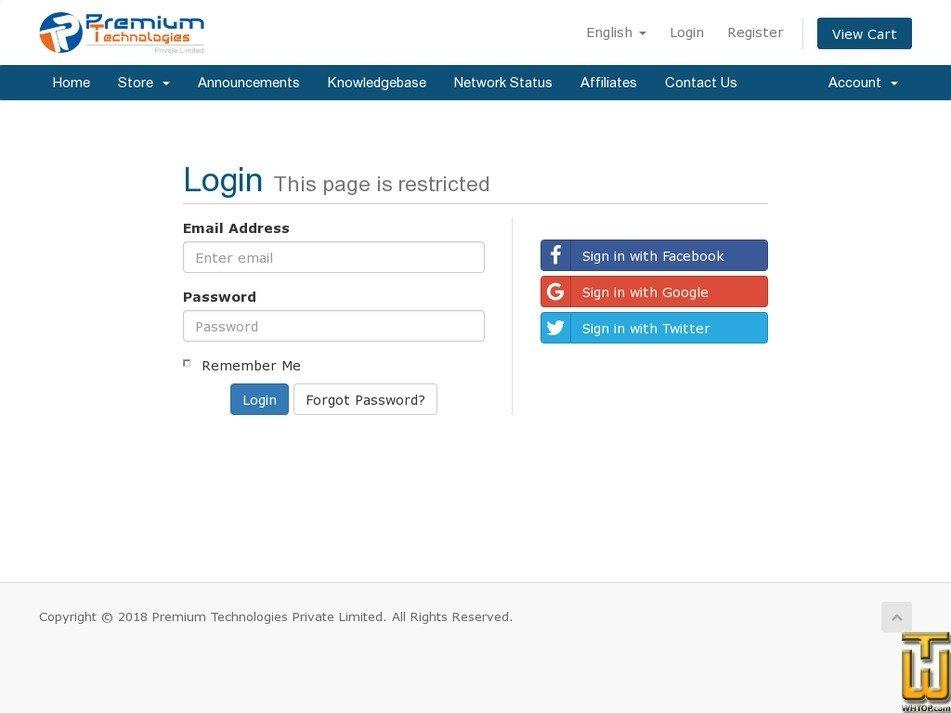 Screenshot of Premium Dedicated Server from premiumtechs.uk