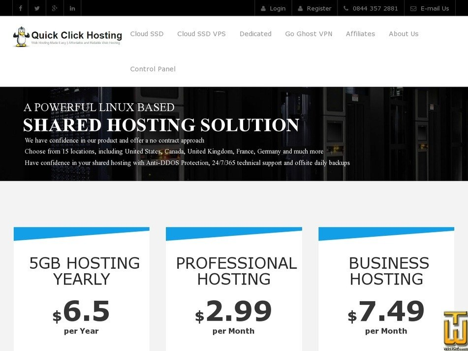 5GB Hosting Yearly from quickclickhosting.com, #51343