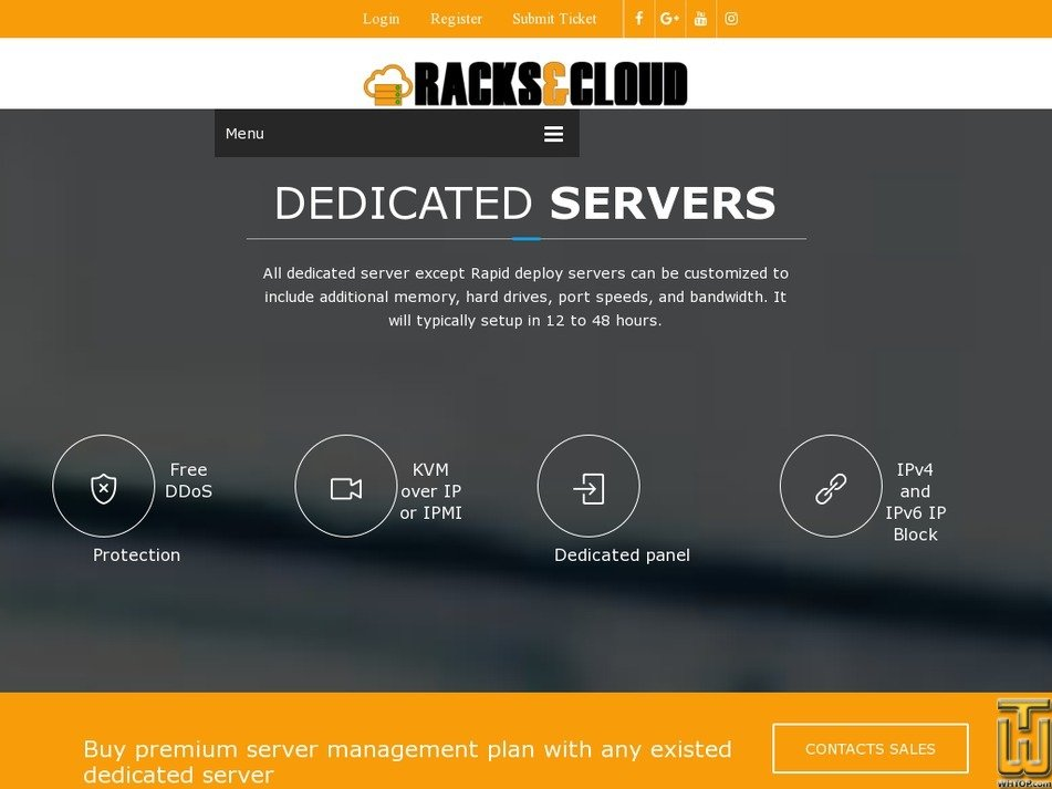 Screenshot of DRACK-24A from racksandcloud.com