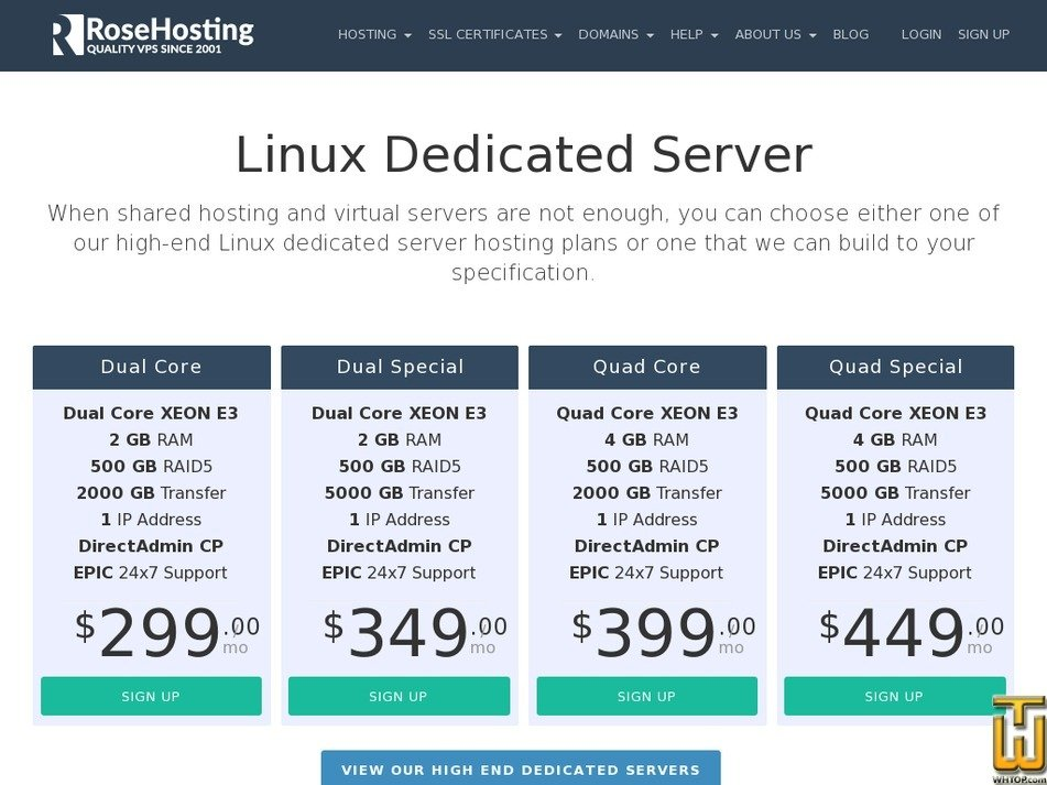 Screenshot of Dual Core from rosehosting.com