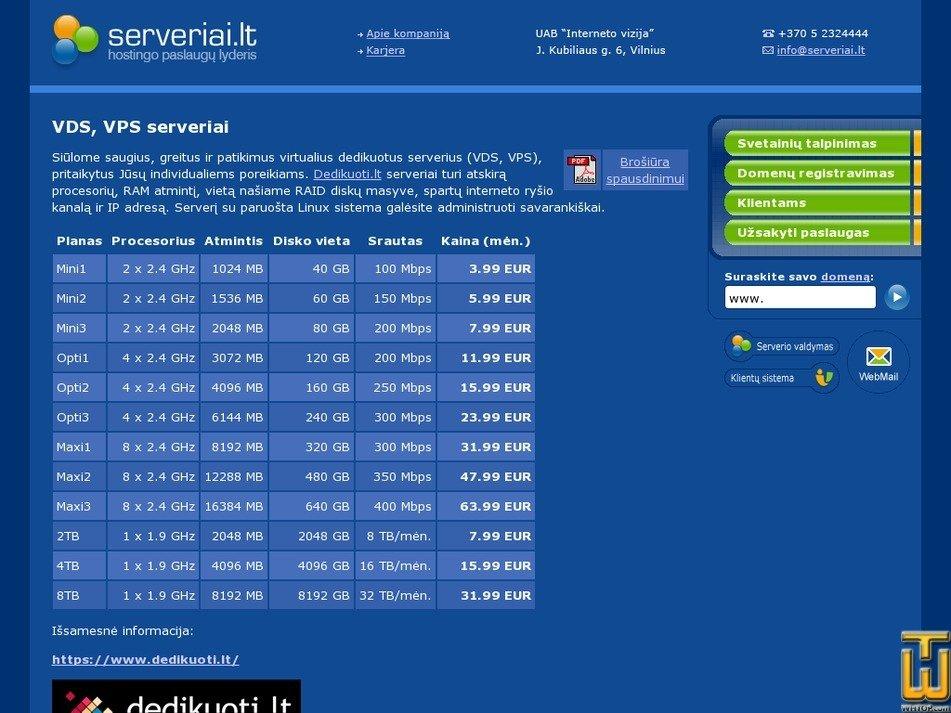 Screenshot of Mini1 from serveriai.lt