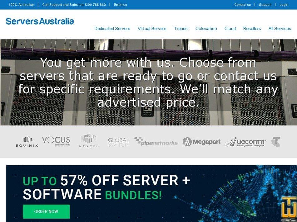 Screenshot of Dedicated  Sydney from serversaustralia.com.au