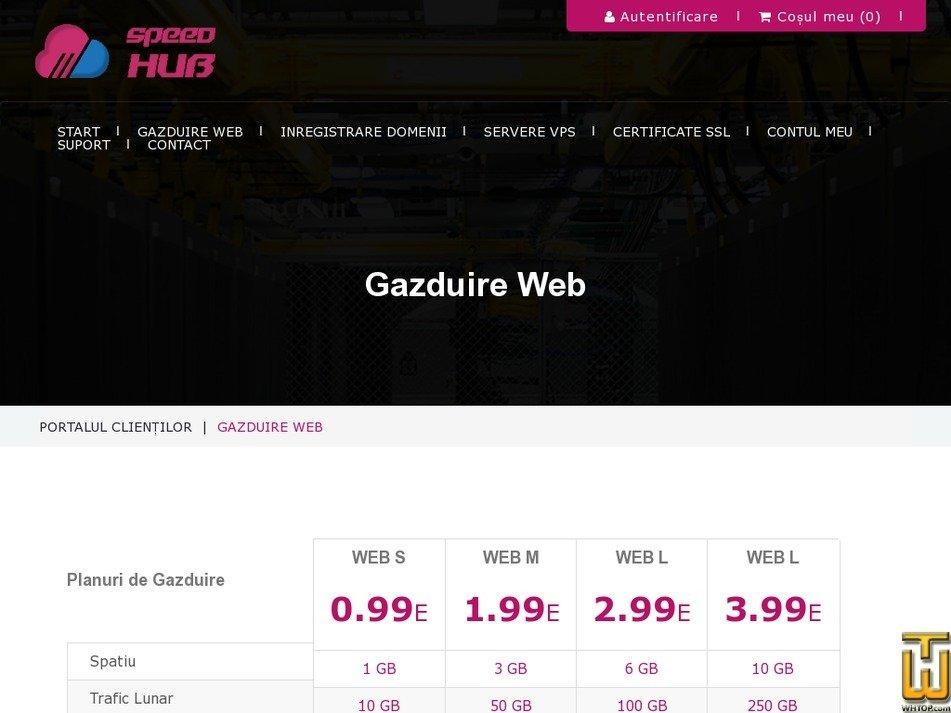 Screenshot of WEB L from speedhub.eu