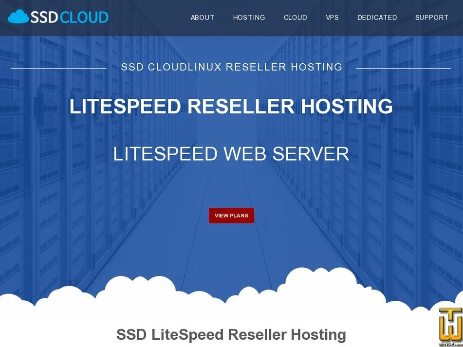 Screenshot of Business Reseller Hosting from ssdcloudservers.com