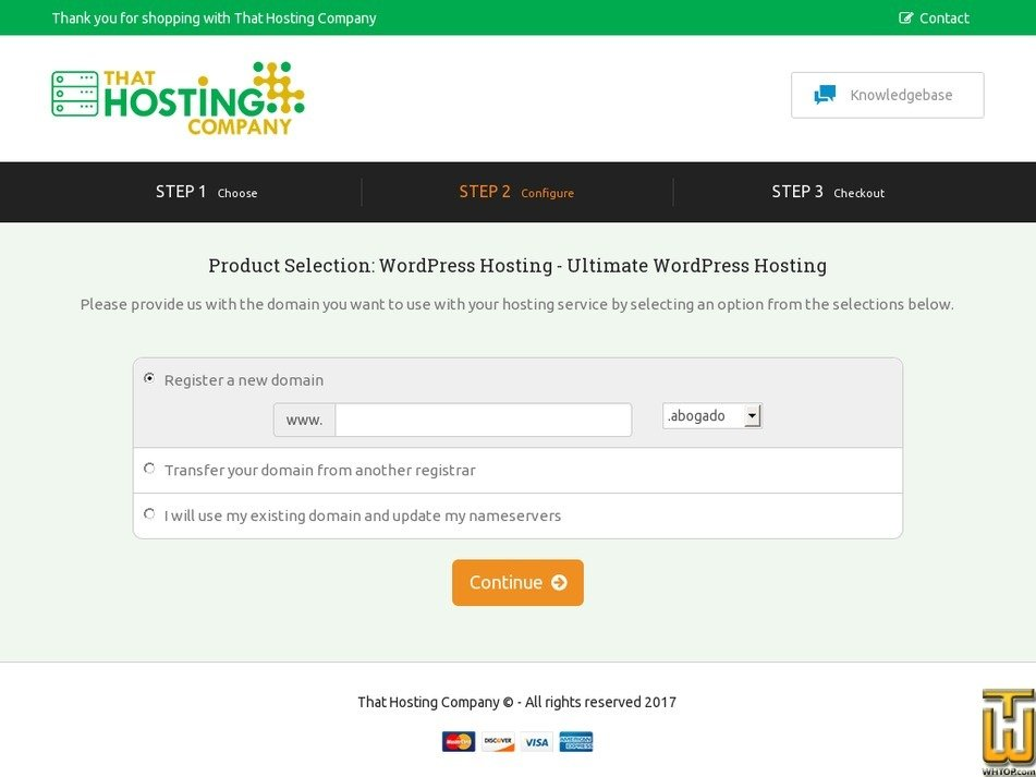 Screenshot of Ultimate Managed WordPress from thathost.ca