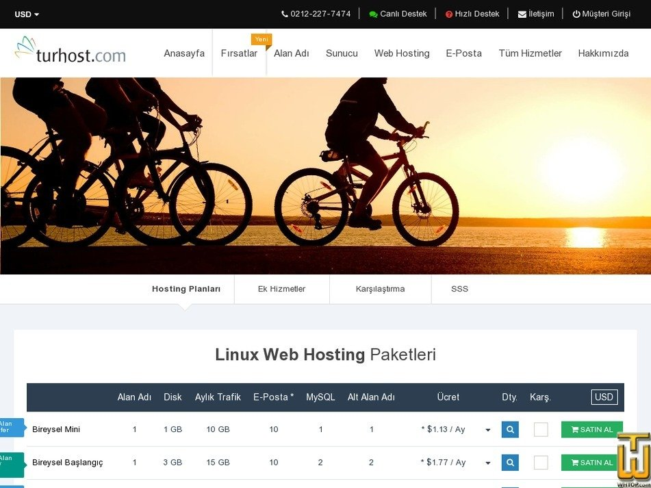 Screenshot of Individual Windows Startup from turhost.com