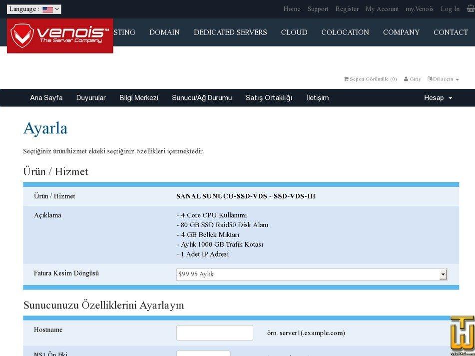 Screenshot of Turkey VDS-3 from venois.net