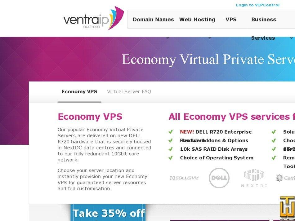 Screenshot of E-VPS PLUS from ventraip.com.au
