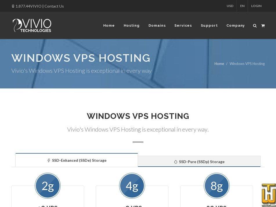 Screenshot of 2GB Windows VPS from viviotech.net