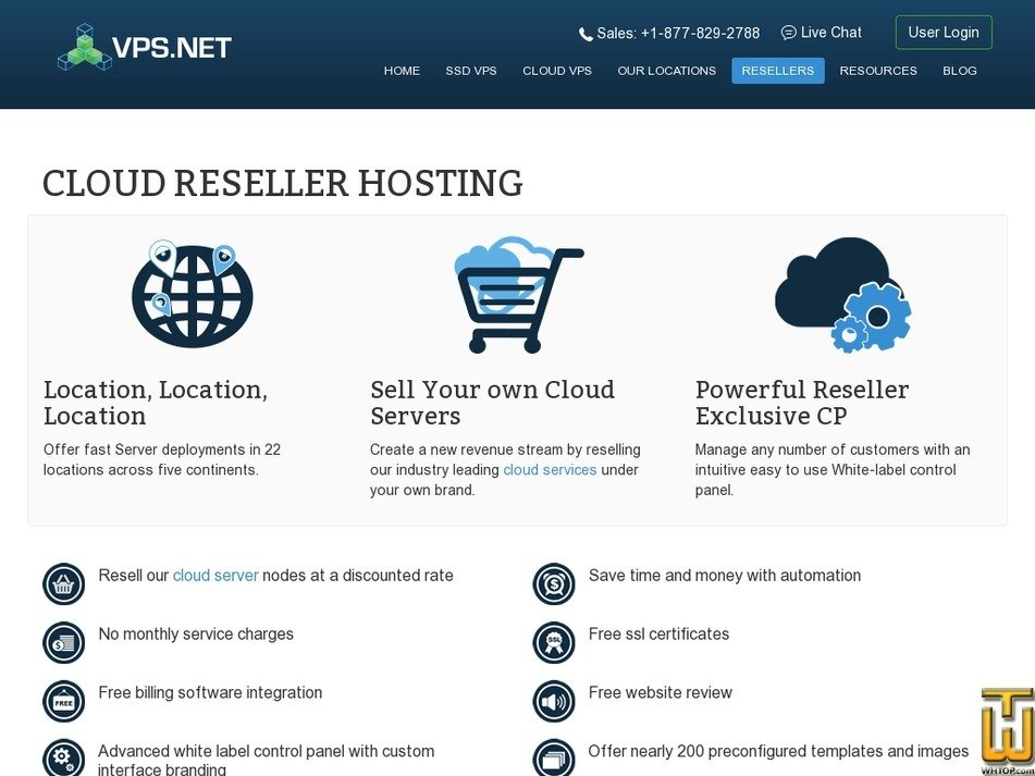 Screenshot of Cloud Reseller Hosting from vps.net