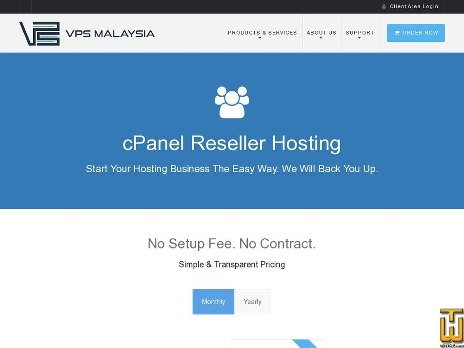 Screenshot of STARTER from vpsmalaysia.com.my