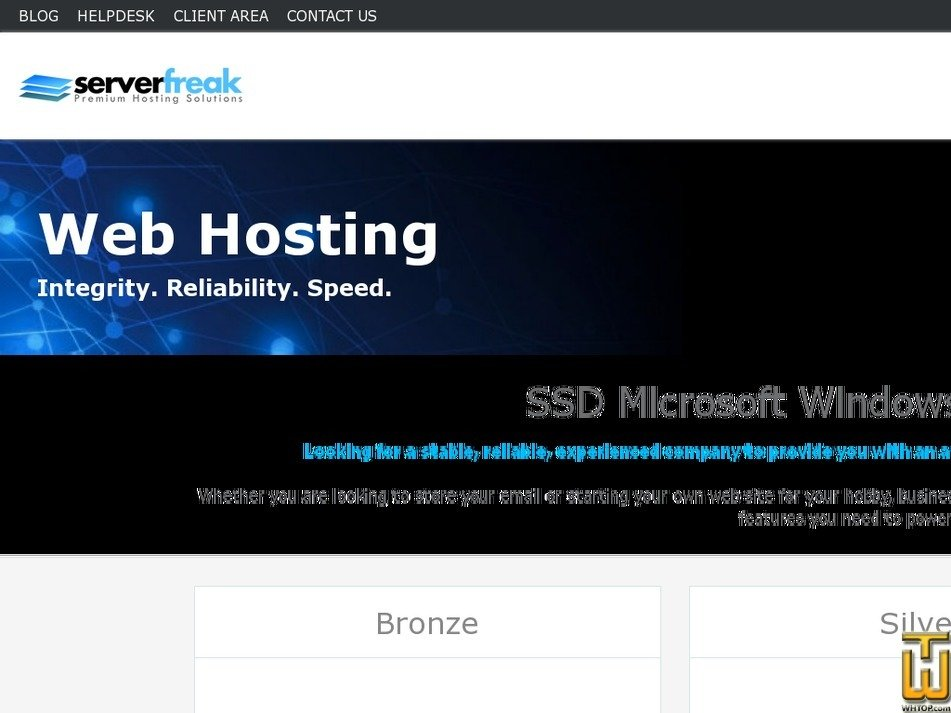 Screenshot of Bronze from web-hosting.net.my