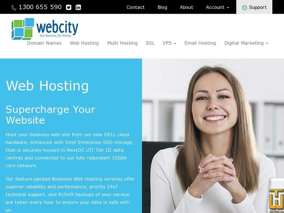 Screenshot of Business from webcity.com.au