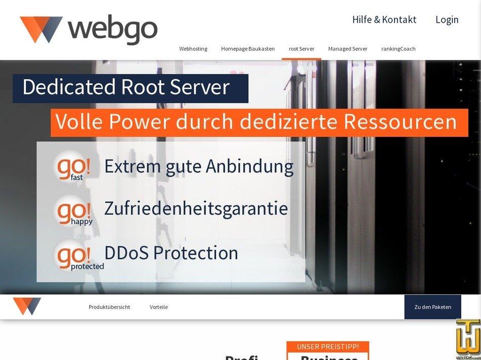 Screenshot of Starter from webgo.de