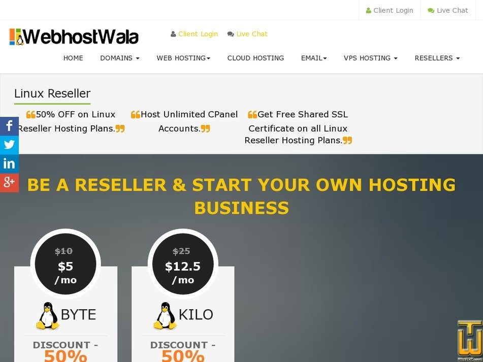 Screenshot of BYTE from webhostwala.com