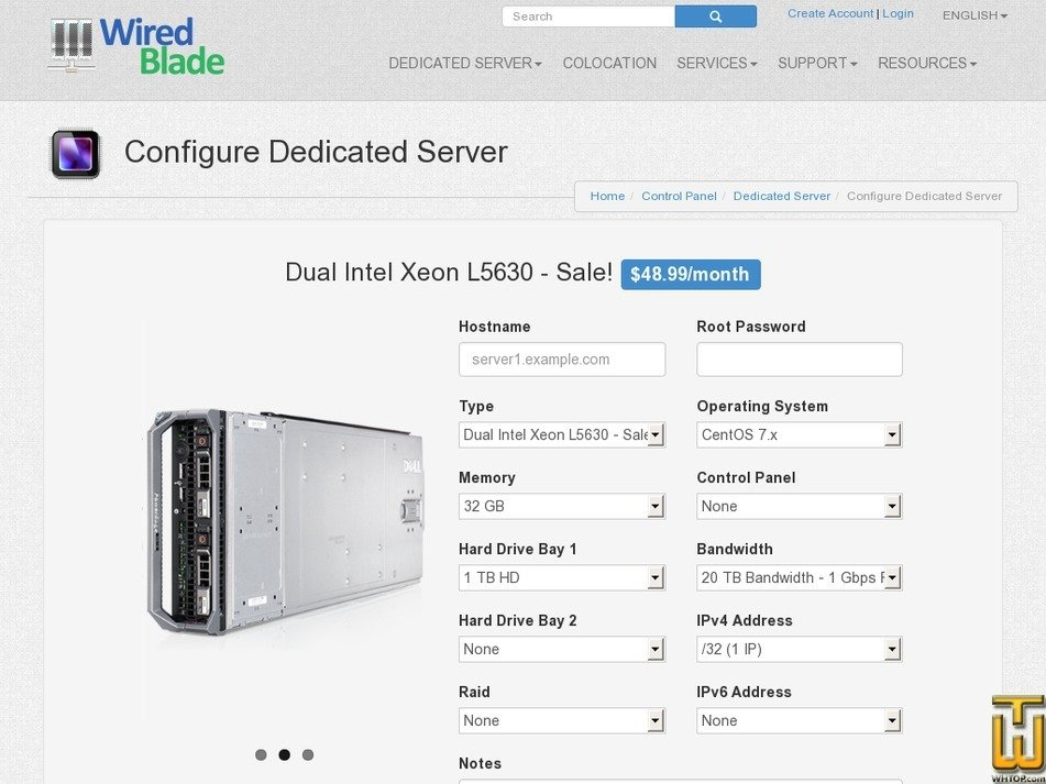 Screenshot of Dual Xeon L5630 - Discount Sale from wiredblade.com