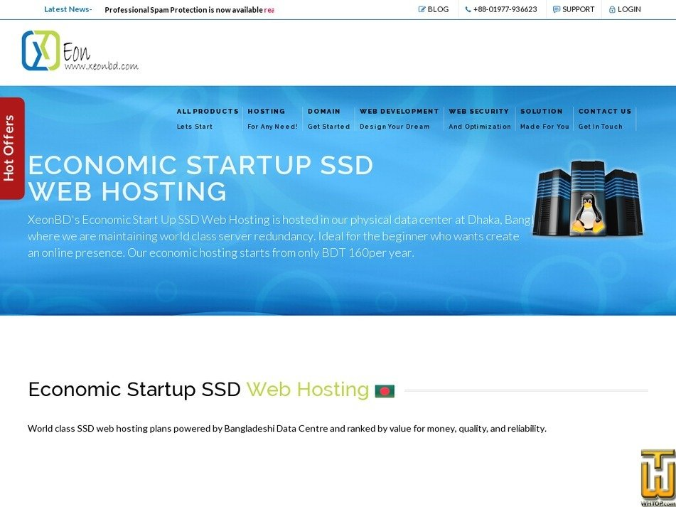 Screenshot of Economic 500 MB Package from xeonbd.com
