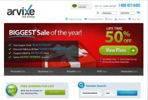Arvixe.com Black Friday 2013