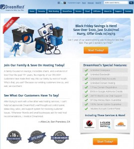 DreamHost.com Black Friday 2013