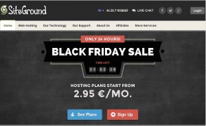 SiteGround.com Black Friday 2013