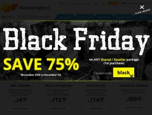 WebHostingBuzz.com Black Friday 2013