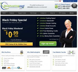 WebhostingPad.com Black Friday 2013