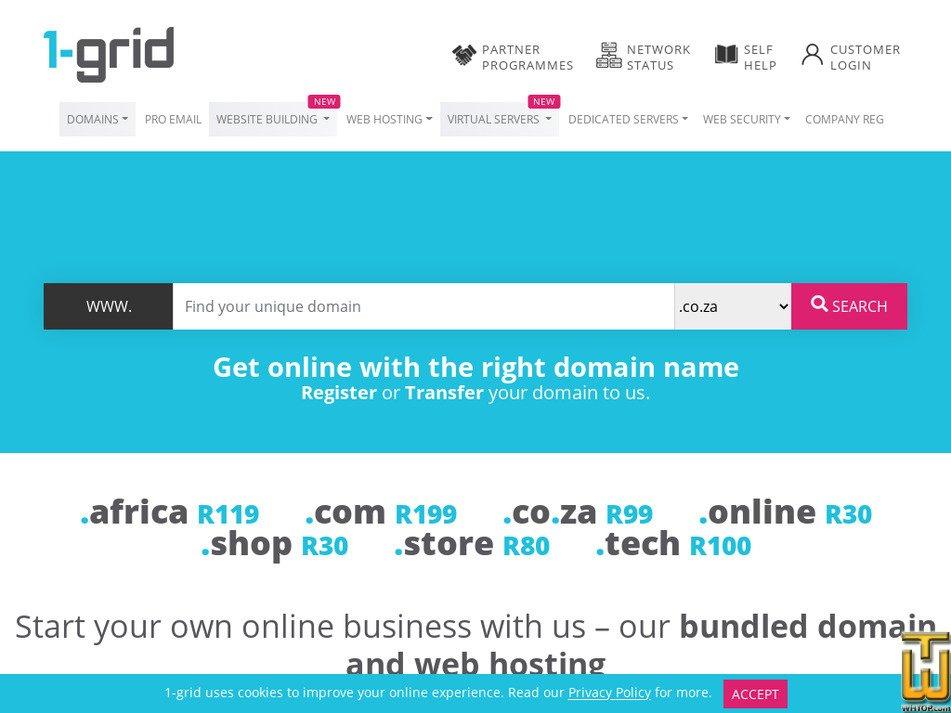 1-grid.com screenshot