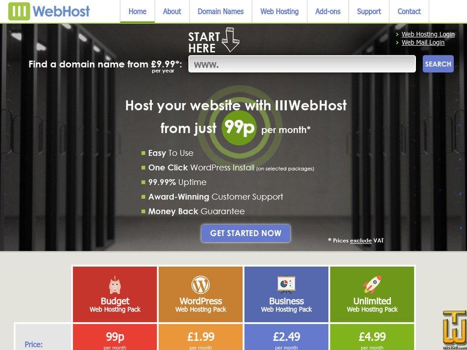 111webhost.com Screenshot