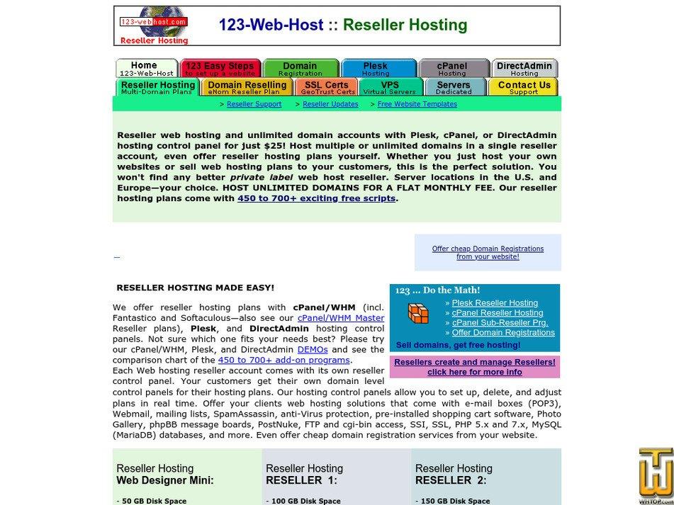 123-web-host-reseller.com Screenshot