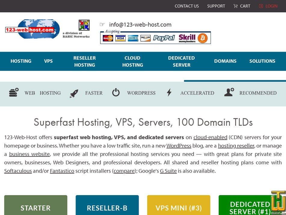 123-web-host.com Screenshot