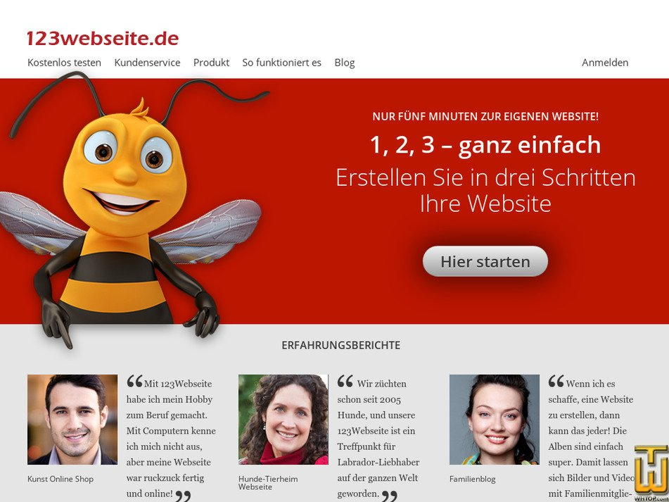 123webseite.de Screenshot
