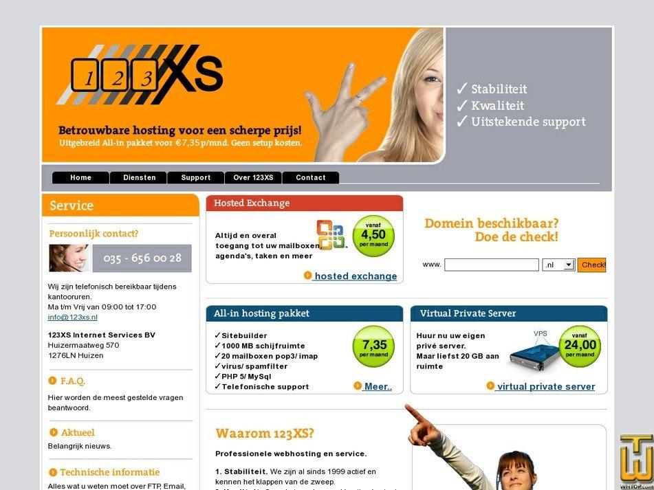 123xs.nl Screenshot