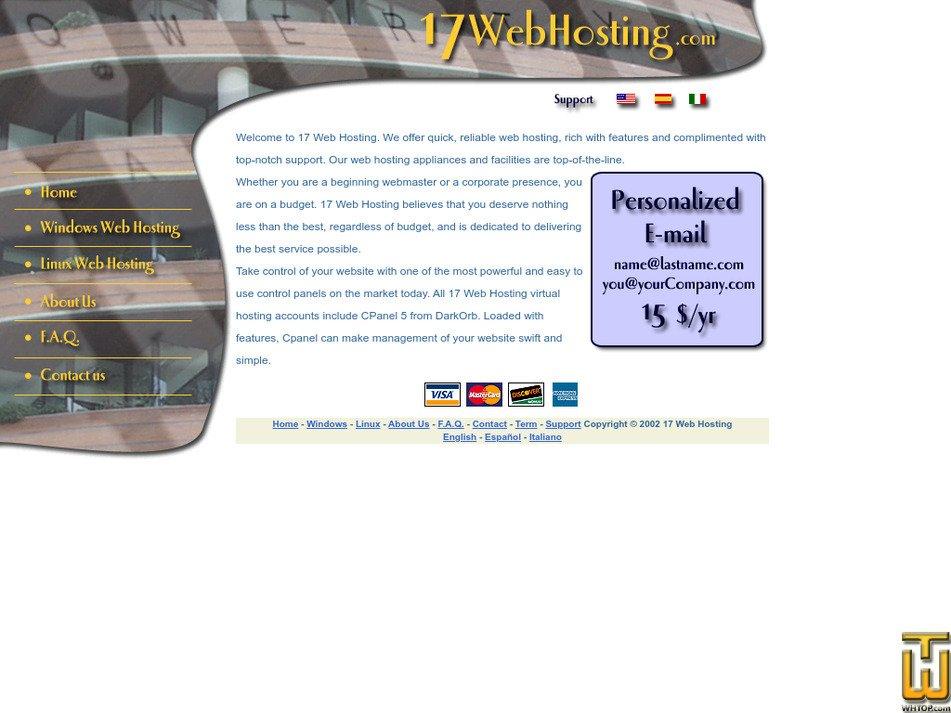 17webhosting.com Screenshot