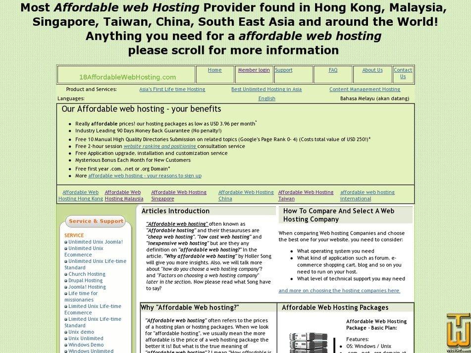 18affordablewebhosting.com Screenshot