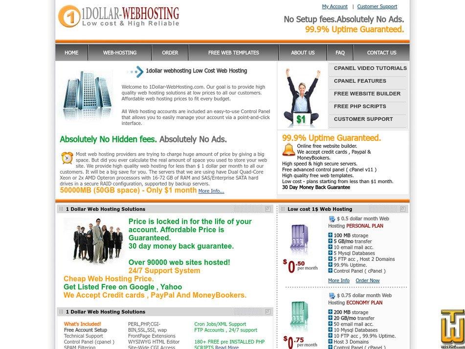 1dollar-webhosting.com Screenshot