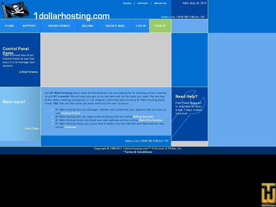 1dollarhosting.com Screenshot