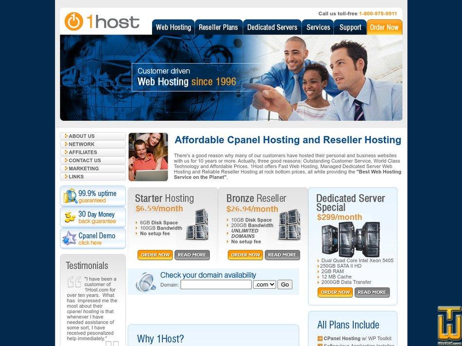 1host.com Screenshot