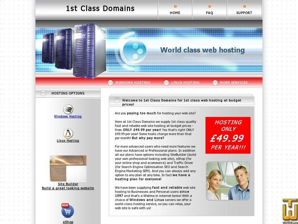 1stclassdomains.com Screenshot