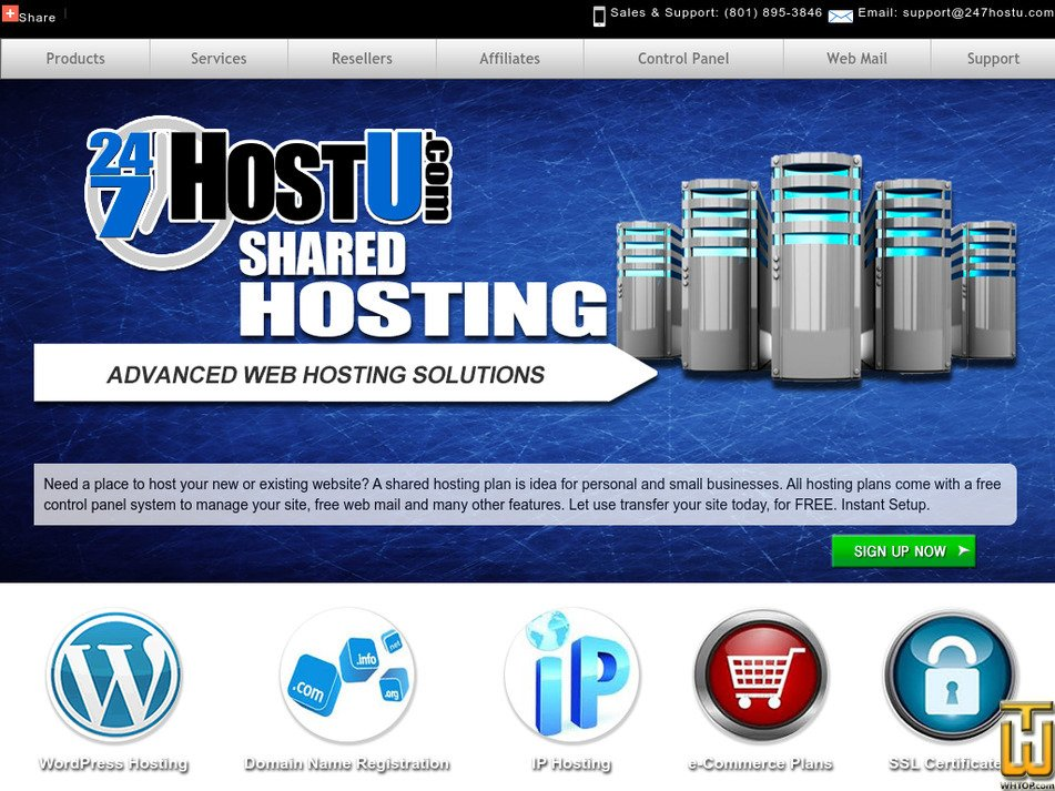 247hostu.com Screenshot