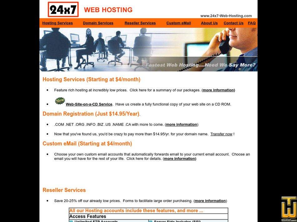 24x7-web-hosting.com Screenshot
